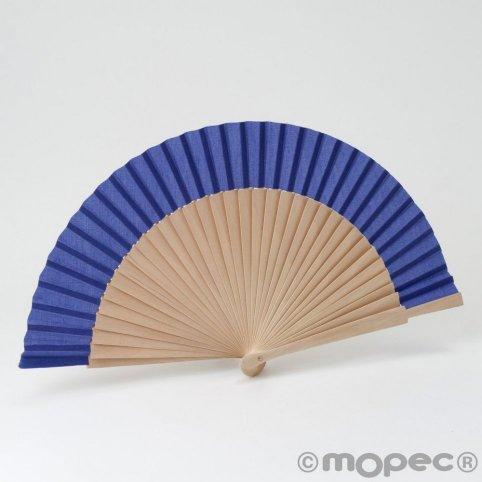 Wooden fan 23cm. dark lilac min.6