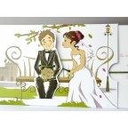 Invito a nozze romantico Cardnovel 34937 sposa e sposo