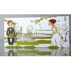 Invitación de boda romántica Cardnovel 34937 cerrada
