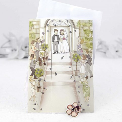 Rice Wedding Invitation Cardnovel 31301