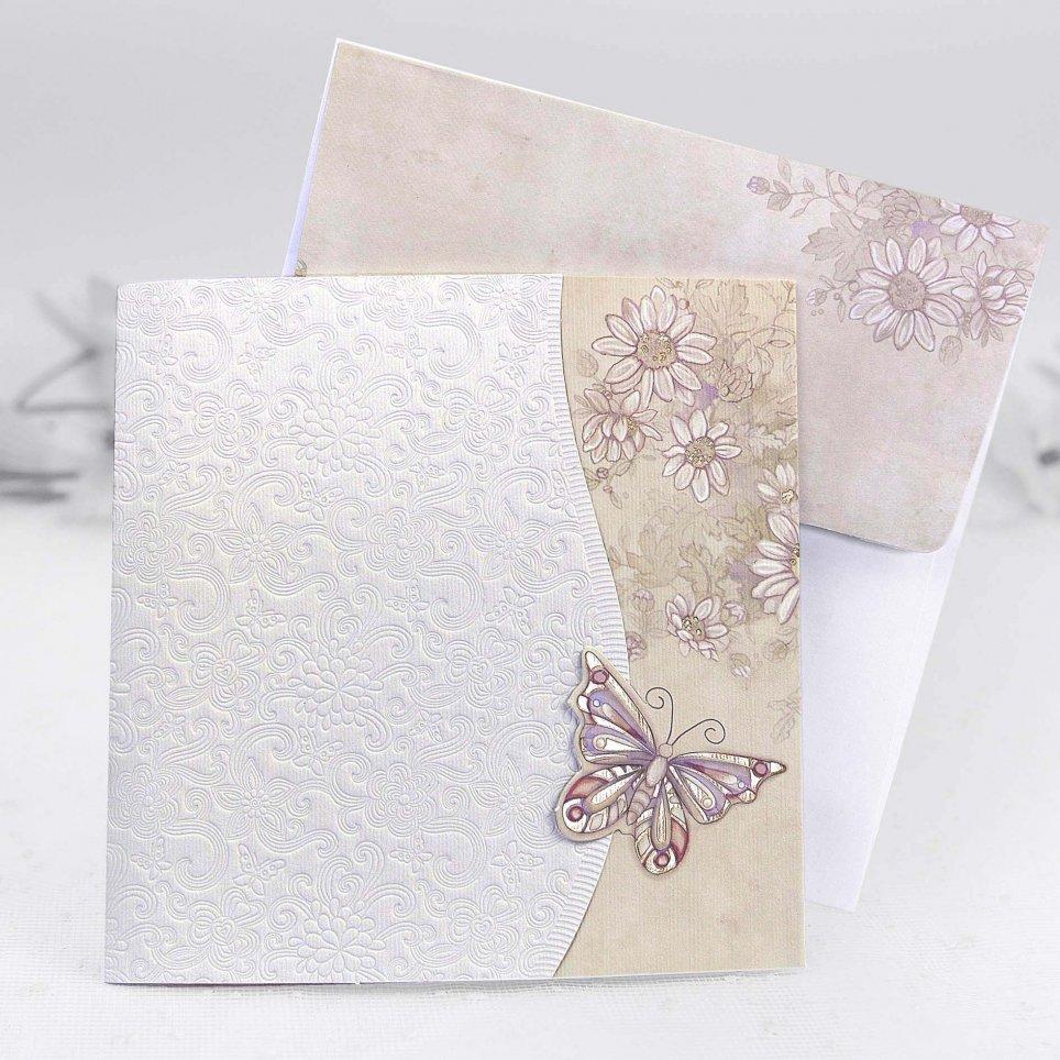 Cardnovel Schmetterling Hochzeitseinladung 31307