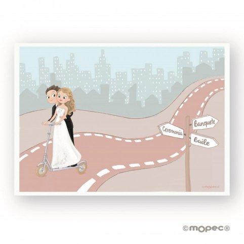 Pellicola adesiva per monopattino da matrimonio Pop & Fun ES 29