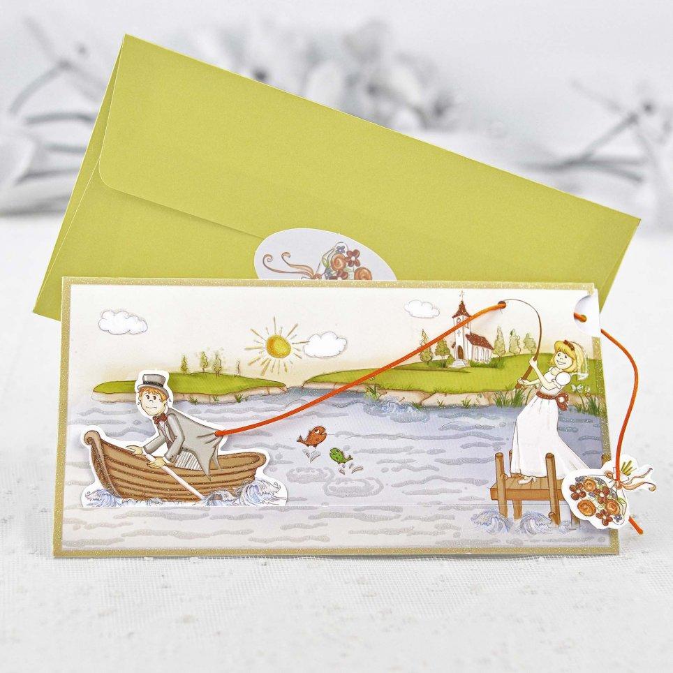 Invitación de boda pesca al novio Cardnovel 32405