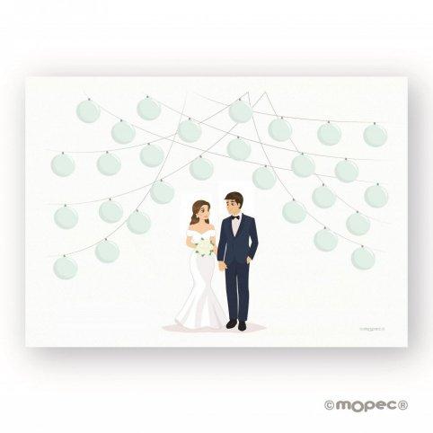 Liebling 29 Hochzeitslaternen Signaturfolie