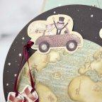 Hochzeitseinladung auf der ganzen Welt Cardnovel 32406 Detail
