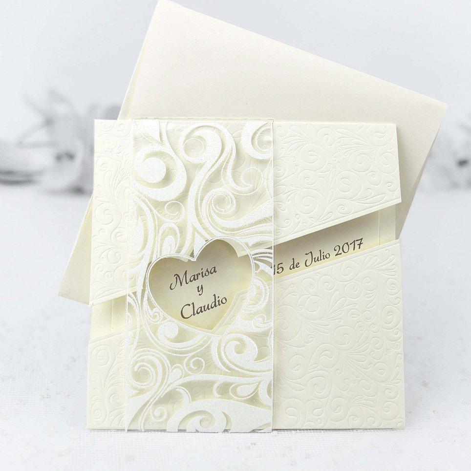 Invitación de boda ventana al corazón Cardnovel 32426