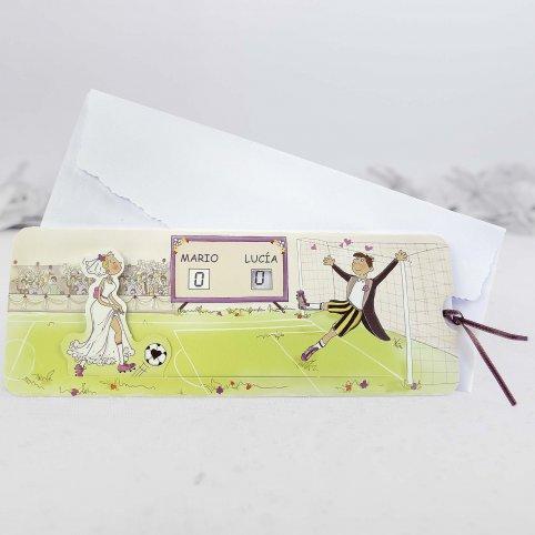 Invitación de boda fútbol Cardnovel 32803