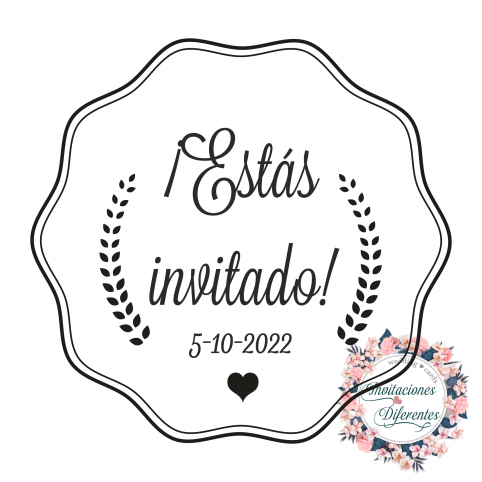Automatic and custom rubber stamp for wedding -You are invited-
