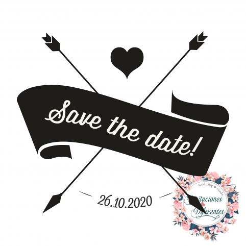 Automatic and custom rubber stamp for wedding -Save the date-