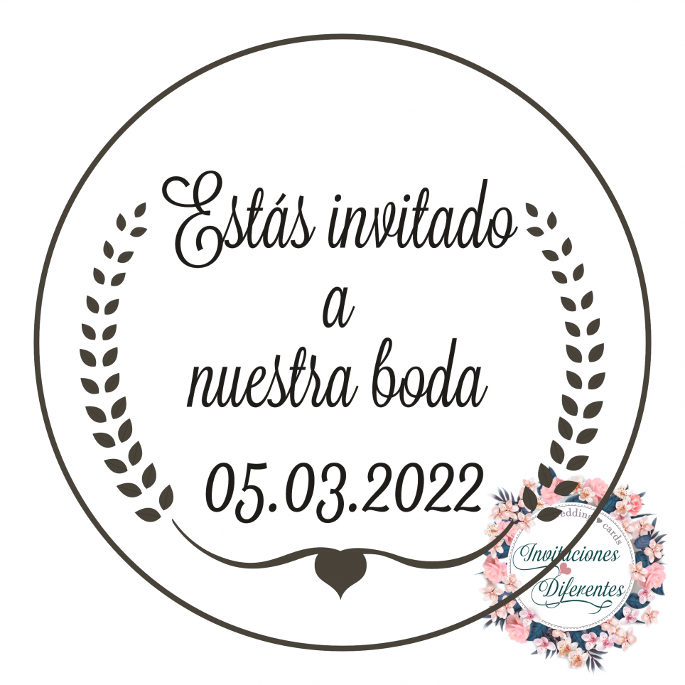 Rubber stamp for wedding -You are invited to our wedding-