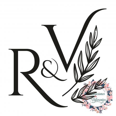 Timbro personalizzato per matrimonio con iniziali e ramo d'ulivo