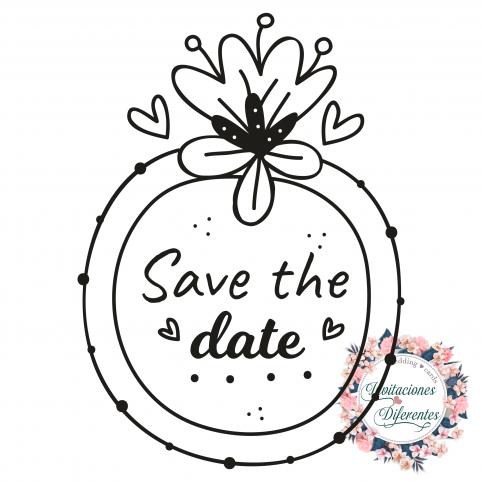Stempel für die Hochzeit Speichern Sie das Datum