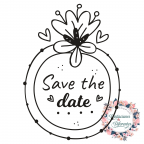 Save the date rubber wedding stamp