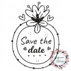 Timbro di gomma per il matrimonio Salva la data