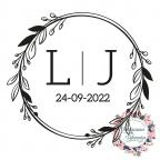 Timbro personalizzato per matrimonio con iniziali e data