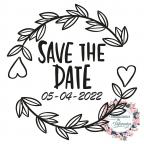 Personalisierter Hochzeitsstempel mit Save the date