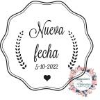 Benutzerdefinierte Hochzeit Stempel neues Datum