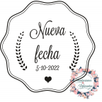 Rubber stamp for Custom Wedding New Date