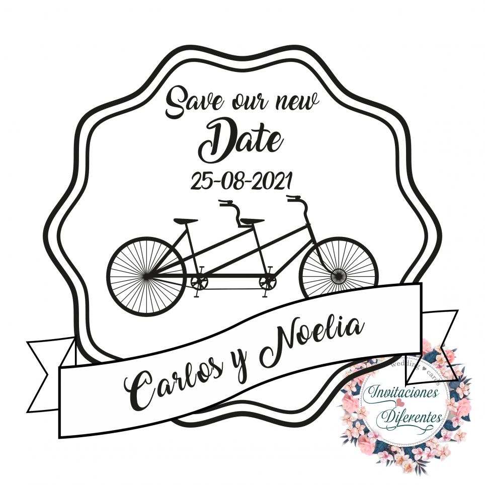 Personalisierter Hochzeitsstempel Speichern Sie unser neues Datum