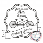 Custom Wedding Rubber stamp Save our new Date