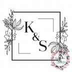 Hochzeitsstempel personalisiert mit Initialen und Blumen