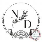 Timbro personalizzato per matrimonio con iniziali circolari