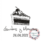 Benutzerdefinierte Hochzeit Gummistempel Kuchen Portion