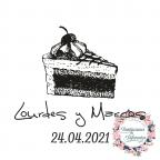 Custom rubber stamp for weddings baked