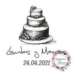 Personalisierte Kuchen Hochzeit Gummistempel