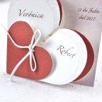Invitación de boda corazón desplegable Cardnovel 32826 detalle