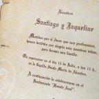 Invitación de boda pergamino con lazo Cardnovel 32830 texto