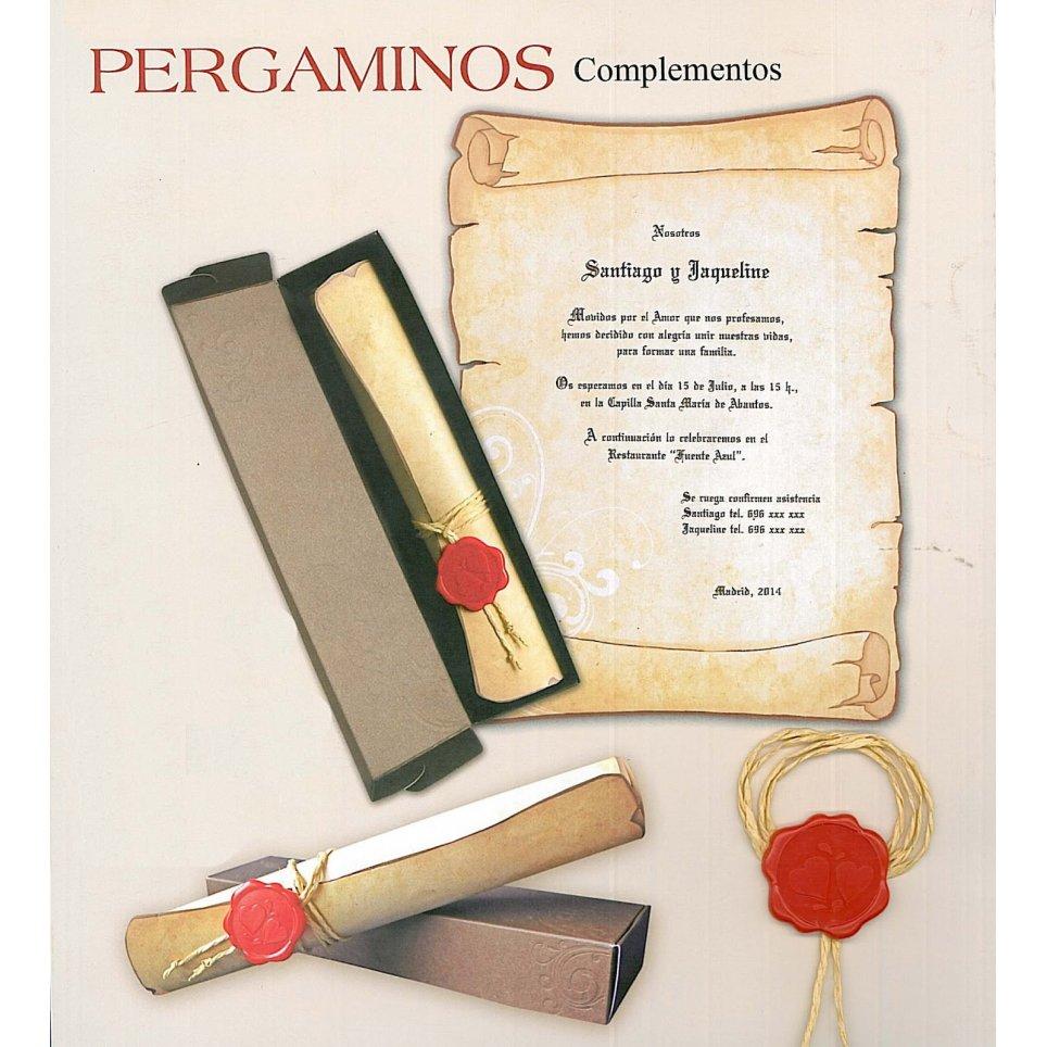 Invito a nozze in pergamena con fiocco Cardnovel 32830