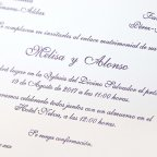 Invito a nozze classico marrone rossiccio Cardnovel 32834 Testo