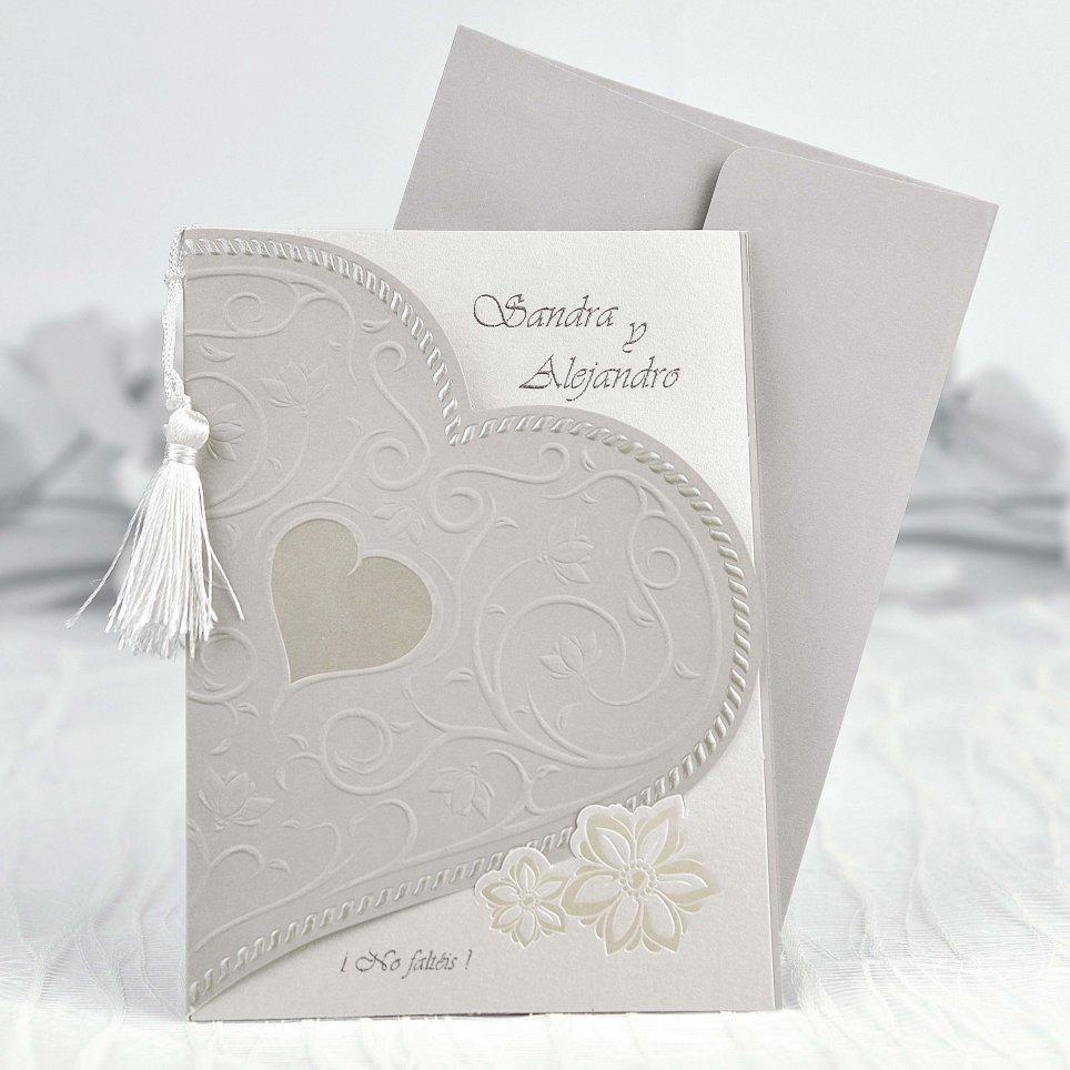 Invito a nozze mezzo cuore Cardnovel 35103