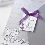 Hochzeitseinladung Braut und Bräutigam cardnovel Karte 35641