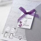 Invitación de boda novios de la mano Cardnovel 35641 tarjeta