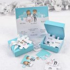 Hochzeitseinladungsbox und Puzzle Cardnovel 39125