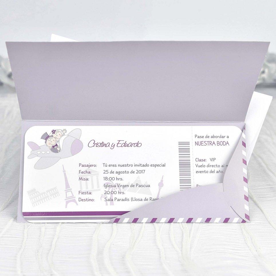 Wedding Invitation Flies to Our Wedding Cardnovel 39131 Indoor