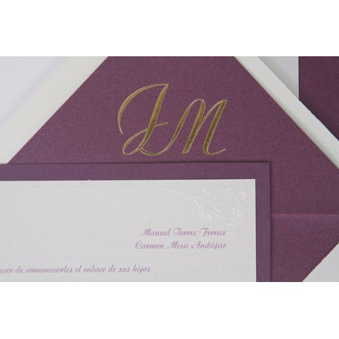 Printing initials on the envelope lining Edima