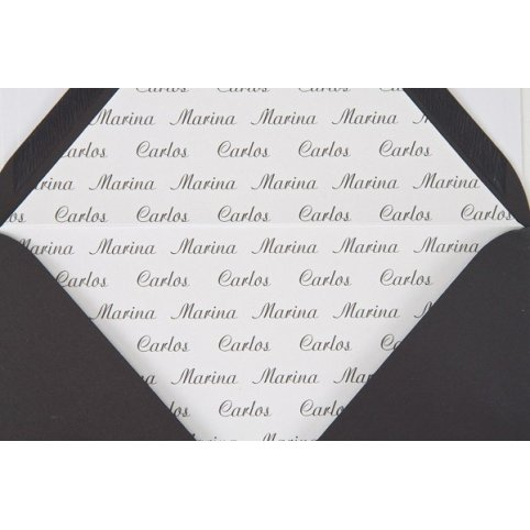 Printing the names on the envelope lining Edima
