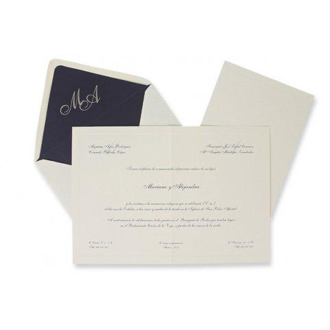 Classic Blue Wedding Invitation Edima 100,326