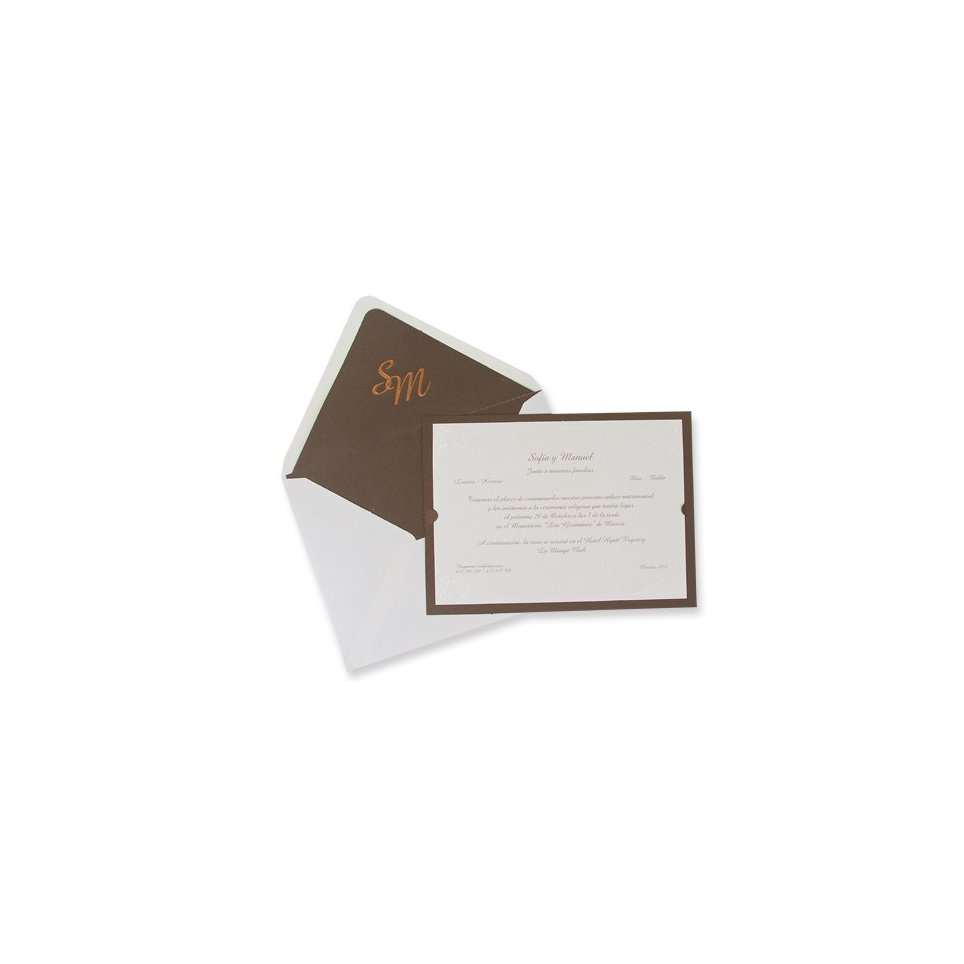 Klassische Hochzeitseinladung aus Bronze Edima 100.320