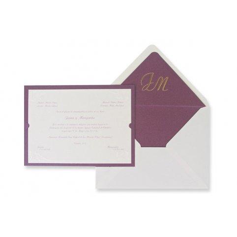 Klassische lila Hochzeitseinladung Edima 100.325