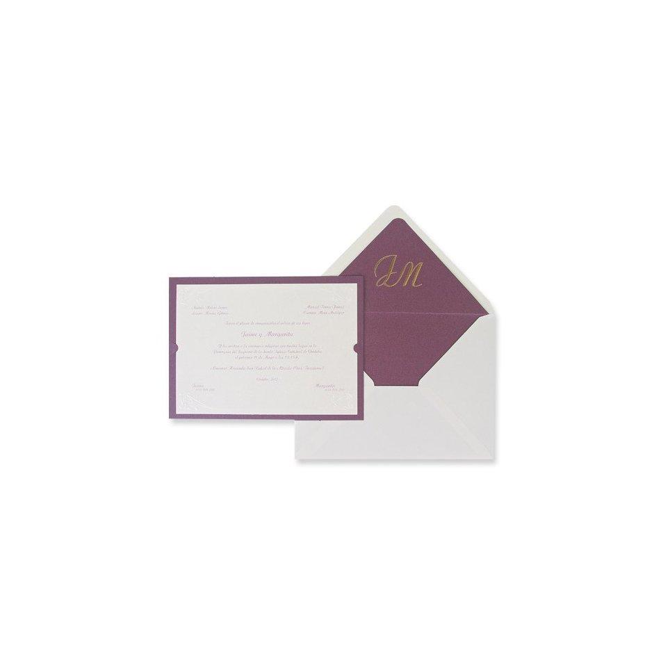 Invitación de boda clásica lila Edima 100.325