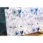 Hochzeitseinladungsblumen im Blau, Detail Edima 100.665