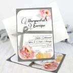 Invitación de boda rosas y lazo, Cardnovel 32627 completa