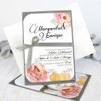 Invito a nozze con rose e fiocco, Cardnovel 32627 completo