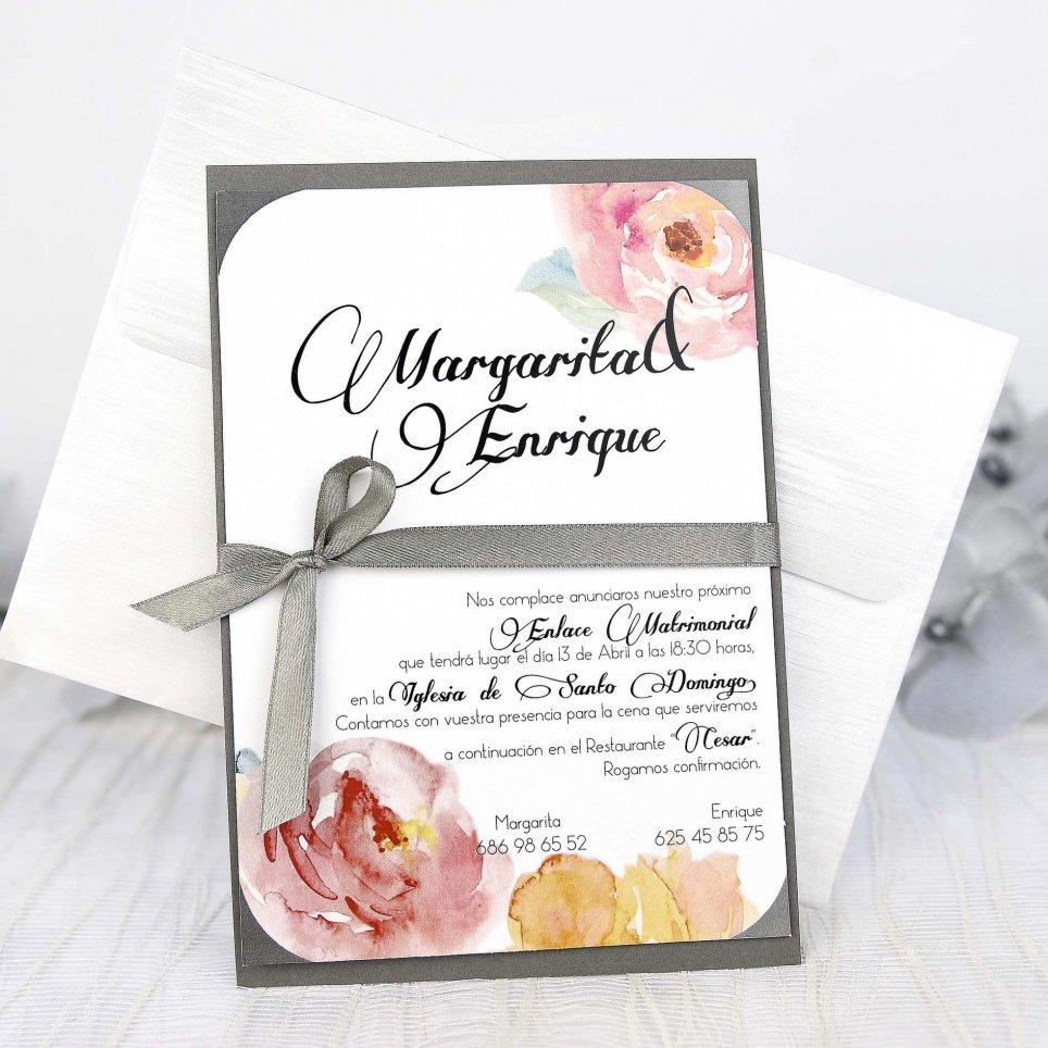 Hochzeitseinladung Rosen und Bogen, Cardnovel 32627