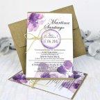 Invitación de boda orquídeas moradas, Cardnovel 32635