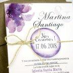 Invito a nozze orchidea viola, dettaglio Cardnovel 32635